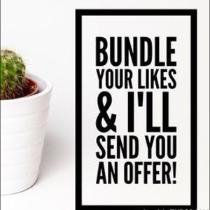 Other - Don't forget to bundle!
